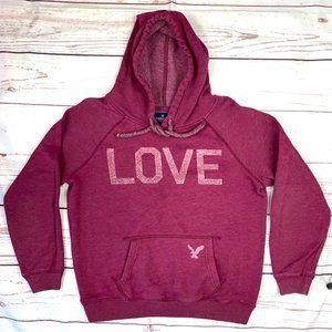  •AEO•  Cute Pre-Loved 'LOVE' Hoodie